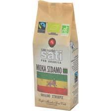 Café moulu moka sidamo BIO Max Havelaar SATI, paquet de 250g