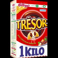 Céréales TRESOR fourrées chocolat noisette, 1kg