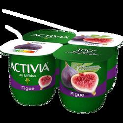 Lait fermenté sucré aux fruits au bifidus aux figues ACTIVIA, 4x125g