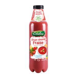Soupe déssert fraise, citron et menthe, Créaline, 750ml