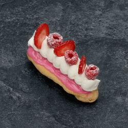 Eclair fraise framboise, 1 pièce, 120g