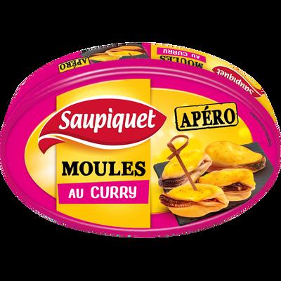 Moules au curry SAUPIQUET, boîte de 110g