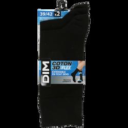 MI-CHAUSSETTES COTON 3D FLEX HOMME DIM   X3
