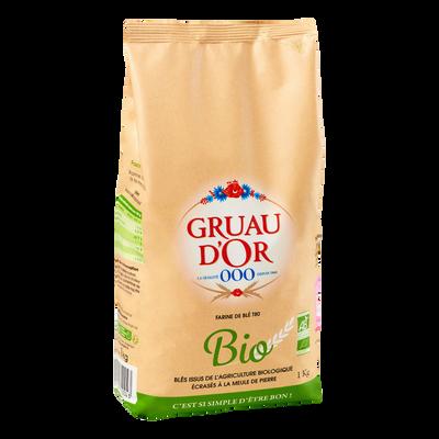 Farine de blé bio GRUAU D'OR, 1kg