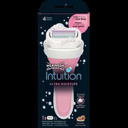 Rasoir pour femme intuition ultra moisture rubans 4 lames WILKINSON