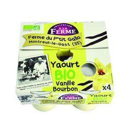 Yaourt bio à la vanille bourbon 4x125g