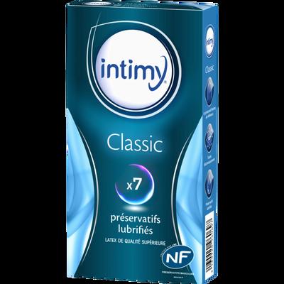 Préservatifs classic lubrifiés INTIMY, x7