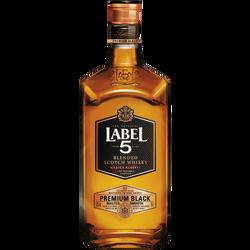 Blended Scotch whisky premium black LABEL 5, 40°, bouteille de 70cl