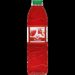 Boisson à base d'eau de source arômatisé au jus de Fraise U, 1,5L