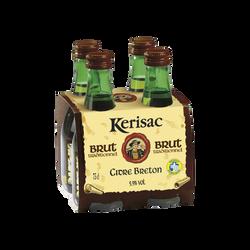 Cidre IGP Breton brut tradition KERISAC, 6°, pack de 4 bouteilles de 25cl