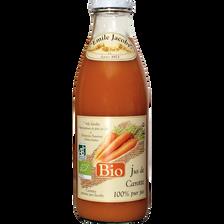 Jus de carottes BIO JACOBY, bouteille de 1l