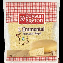Emmental râpé au lait thermisé PAYSAN BRETON, 28%MG, 1kg