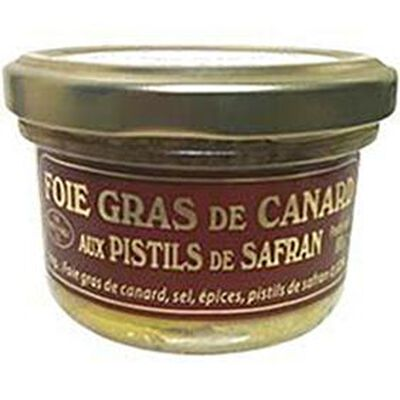 Foie gras de canard aux pistils de safran SAFRAN DU CHATEAU, 80g