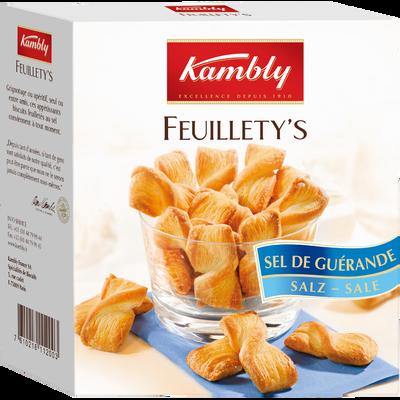 Snacks feuilletés au beurre et sel de Guérande Feuillety's KAMBLY, 75g