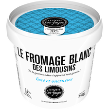 Fromage blanc des Limousins LAITERIE LES FAYES, 20% de MG, pot 750g