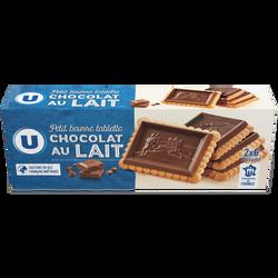 Petit Beurre tablette chocolat lait U, 150g