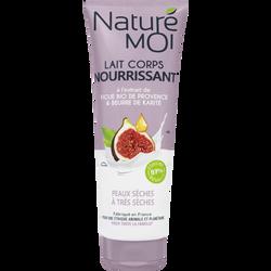 Lait corps nourrissant extrait de figue de Provence&beurre de karité peaux sèches à très sèches NATURE MOI, tube de 250ml
