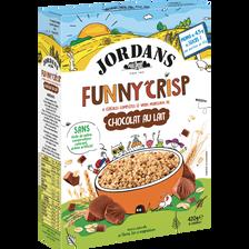 Céréales funny crisp avec morceaux de chocolat au lait JORDANS, 420g