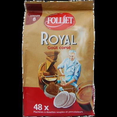 Dosettes souples café à l'ancienne corsé inten 8 FOLLIET,x48