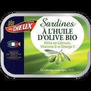 Les Dieux Sardines À L'huile D'olive Bio Le Tresor Des Dieux, Boîte De 1/6, 115g