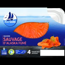 Saumon rouge du Pacifique fumé PETIT NAVIRE, x4 120g