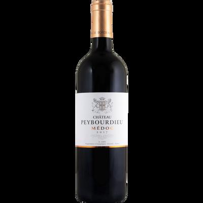 """Vin rouge AOP Médoc """"Château Peybourdieu"""", bouteille de 75cl"""