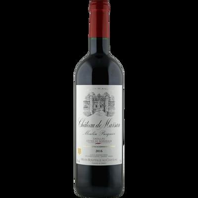 Vin rouge AOC Cadillac Côtes Bordeaux Château Marsan Cuvée M.Pasquier,bouteille de 75cl