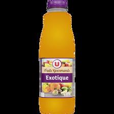 """Jus exotique source 10 vitamines """"fruits gourmands"""" U, bouteille de 1l"""