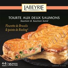 Labeyrie Tourte Aux 2 Saumons Et Fleurettes De Brocolis , 500g