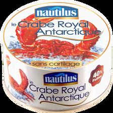 Nautilus Crabe Royal Antarctique 40% Pattes , Boîte De 120g