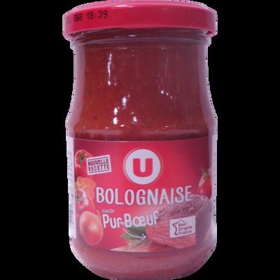 Sauce bolognaise U, bocal de  212ml, 200g