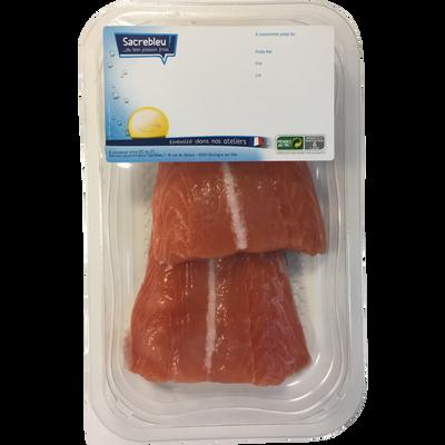 Filet de saumon, Salmo salar, élevé en Norvège, barquette de 200g
