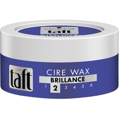 Cire wax brillance tenue forte styling TAFT, pot de 75ml