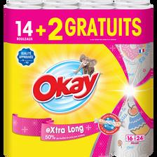 Okay Essuie-tout Décoré Xxl , 14 Rouleaux + 2 Rouleaux Gratuits