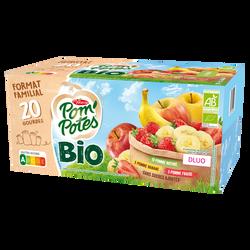 Compote sans sucre ajouté pomme banane bio MATERNE, 20x90g format familial