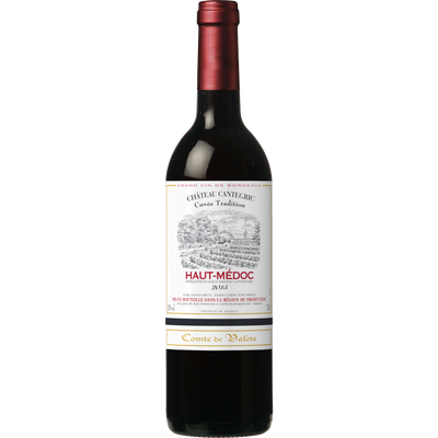 Vin rouge AOC Haut-Médoc Comte de valois, 13°, 75cl