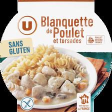 Blanquette de poulet et pâtes sans gluten, U, 280g