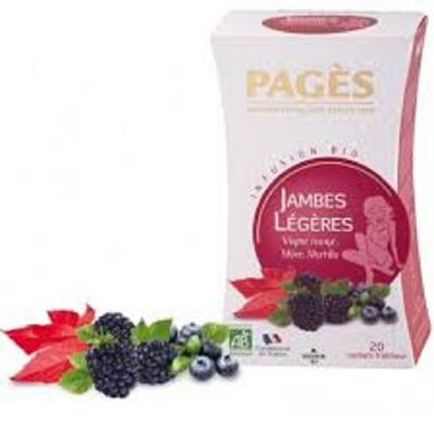 INFUSION JAMBE LEGERE Boîte de 20 Sachets - 30g PAGES INFUSIONS