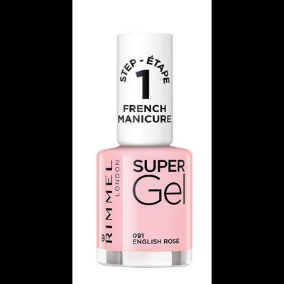 Vernis à ongles super gel french manicure english rose 091 nu RIMMEL,12ml
