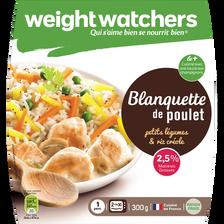 Blanquette poulet petits légumes et riz créole, WEIGHT WATCHERS, 2.5%de MG, 300g