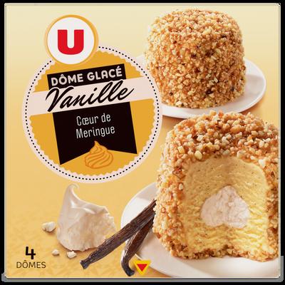 Dômes glace meringue vanille U, x4, 270g