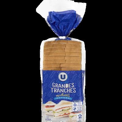 Pain de mie sandwich Nature U, 825g