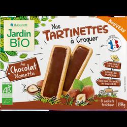 Tartinettes au chocolat noisette bio JARDIN BIO 138g