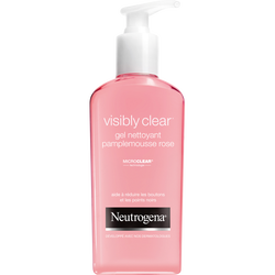 Gel nettoyant au pamplemousse rose Visibly Clear NEUTROGENA, flacon de200ml