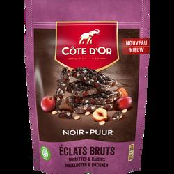 Eclat brut noir raisins,noisettes COTE D'OR 120g