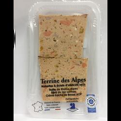 Terrine des Alpes composée de truite et de féra AOP LE PETIT FUMET ENRHONE ALPES 2tranches 120g