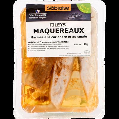 Filets de maquereaux au coriandre et au cumin, LA SABLAISE, France, 140g