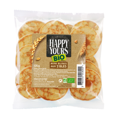 Minis blinis aux 2 blés bio x16 HAPPY HOURS 135g