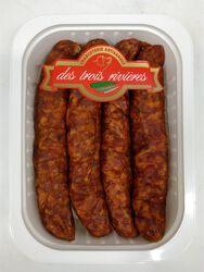 Saucisses Fumées de porc, 3 RIVIERES, Origine France, 4 pièces, Barquette,300g