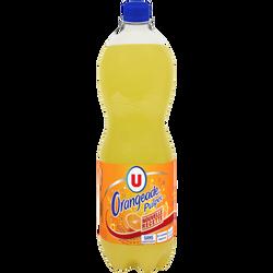 Boisson gazéifiée au jus d'orange pulpé à base de concentré avec sucre1,5L